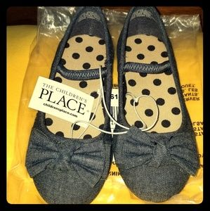 The children's place Girls Uniform Denim Flats $20